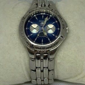Fossil Men's Stainless Steel Blue Dial Watch C542